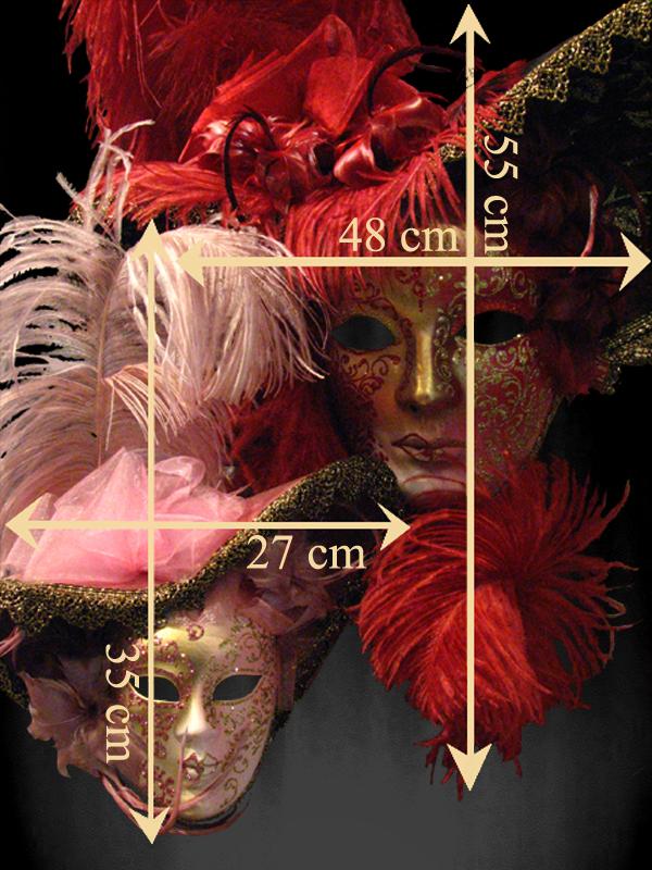 Masque visage loup plume bal masque carnaval venise - Masque venitien decoration ...