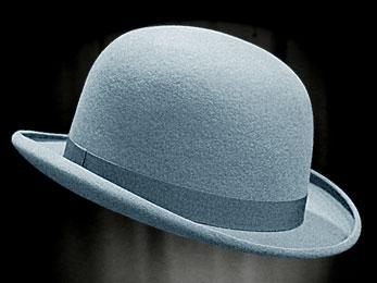 4960c8ca5c0ac REAL BOWLER DERBY HAT SKY BLUE HORIZON (2 3 weeks) - - THEATRHALL ...